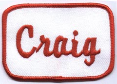 Custom Embroidered Name Tag or Your Text Biker Vest Patch Badge x Harley
