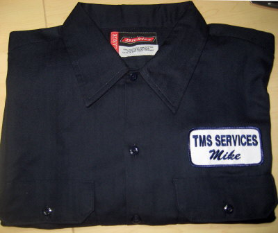 Work Shirt With Name Patch