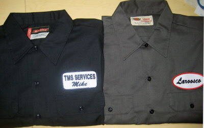Work shirt with an embroidered name patch short sleeve for Embroidered work shirts no minimum order