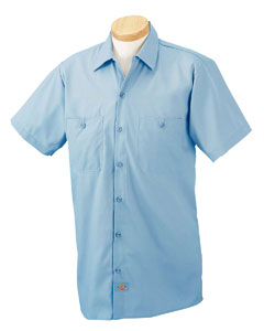 Industrial short sleeve work shirt with an embroidered for Custom embroidered work shirts no minimum