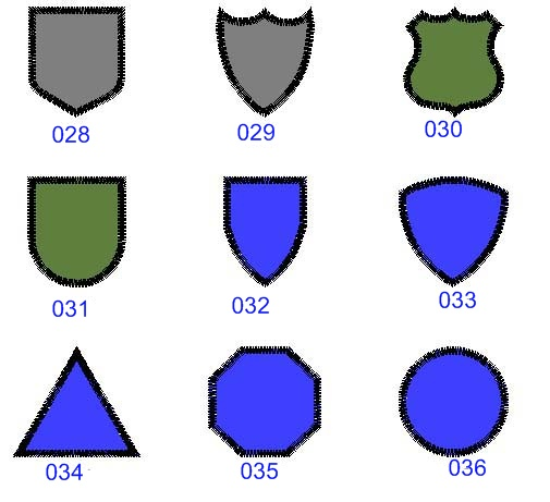 Military Patch Template Gallery - template design free download
