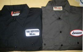 Work shirt with name patch for Mechanic shirts custom name patch